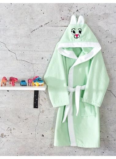 Komfort Home Kapşonlu %100 Pamuklu Çocuk Bornoz Renkli